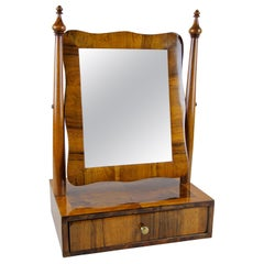 19th Century Biedermeier Vanity Table Mirror Nutwood, Austria, circa 1850