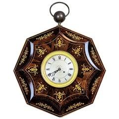 19th Century Biedermeier Wall Clock