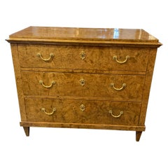 19th Century Biedermeier Walnut Classical Chest