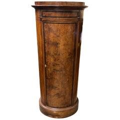 19th Century Biedermeier Walnut Column Bar Cabinet, 1860s