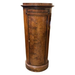 19th Century Biedermeier Walnut Column Bar Cabinet, 1860s