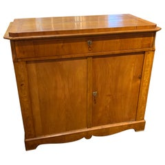 19th Century Biedermeier Walnut Credenza