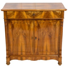 19th Century Biedermeier Walnut Half Cabinet