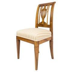 19th Century Biedermeier Walnut Lyra Chair