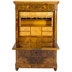19th Century Biedermeier Walnut Small Secretaire