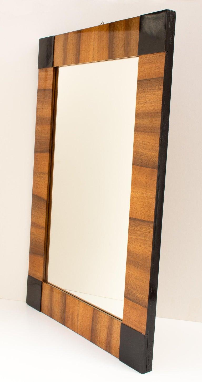 German 19th Century Biedermeier Walnut Wall Mirror For Sale