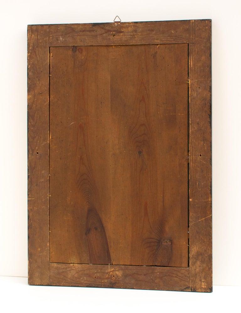 Polished 19th Century Biedermeier Walnut Wall Mirror For Sale