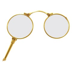 19th Century Binocle or Face to Hand in Gold