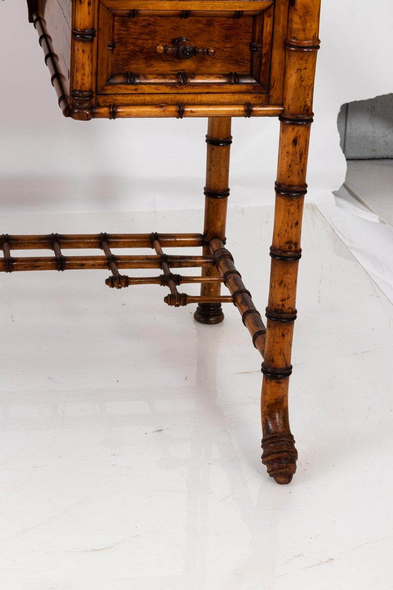 19th Century Bird's-Eye Maple Faux Bamboo Dressing Table by R. J. Horner 7