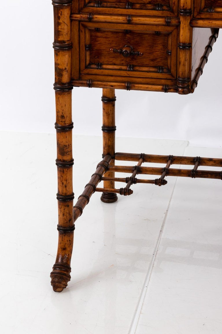 19th Century Bird's-Eye Maple Faux Bamboo Dressing Table by R. J. Horner 8