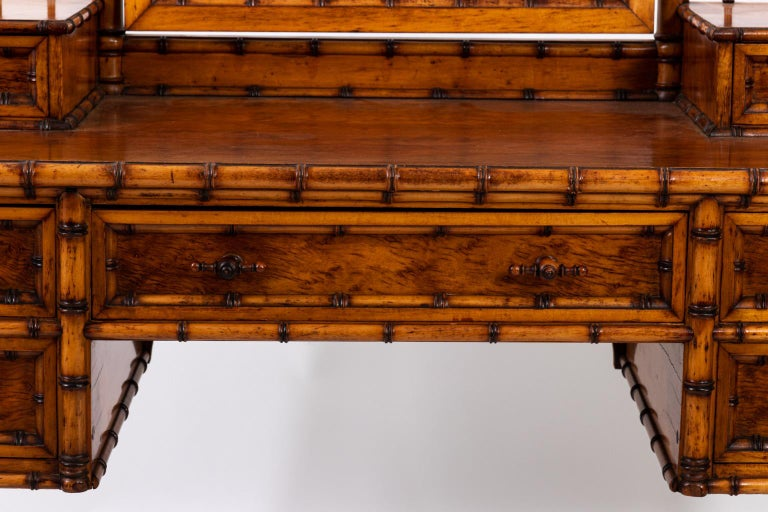 19th Century Bird's-Eye Maple Faux Bamboo Dressing Table by R. J. Horner 9