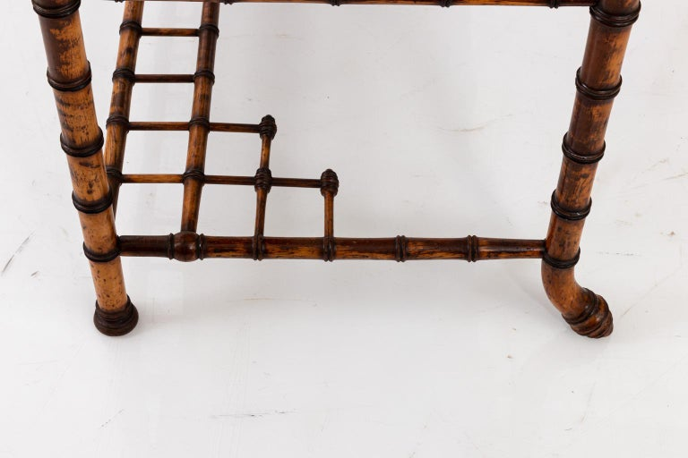 19th Century Bird's-Eye Maple Faux Bamboo Dressing Table by R. J. Horner In Good Condition In Stamford, CT