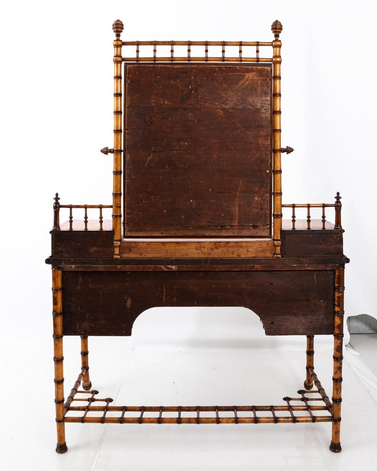 19th Century Bird's-Eye Maple Faux Bamboo Dressing Table by R. J. Horner 2