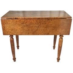 19th Century Birdseye Maple Drop Leaf Table