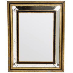19th Century Black and Gold Gilt Mirror