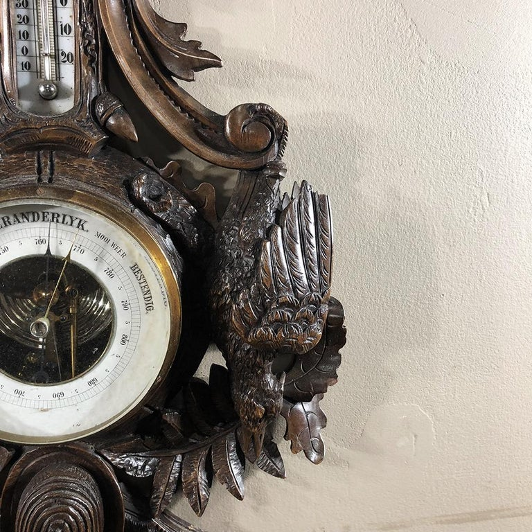 19th Century Black Forest Barometer, Thermometer For Sale 3