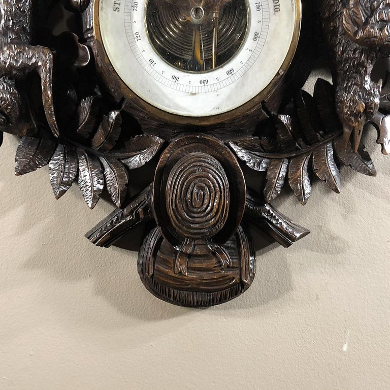19th Century Black Forest Barometer, Thermometer For Sale 1