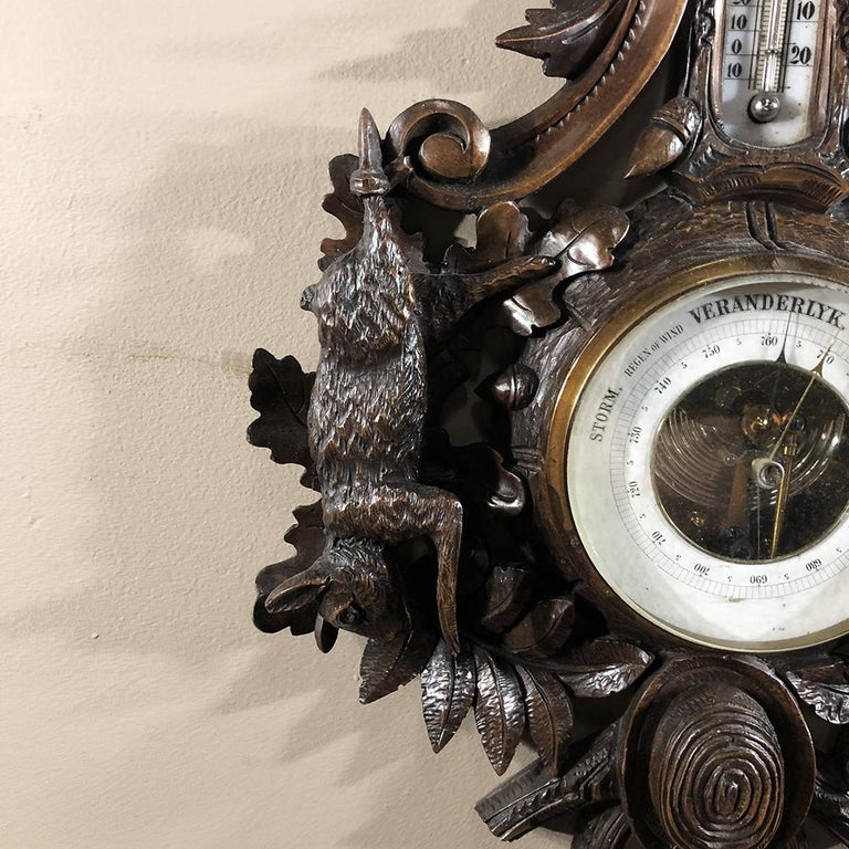 19th Century Black Forest Barometer, Thermometer For Sale 2