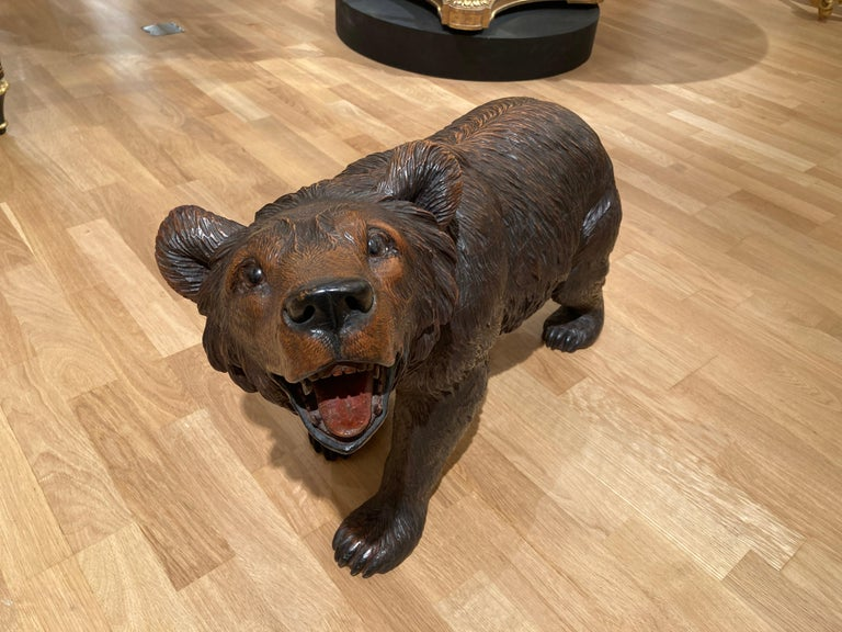 Swiss 19th Century 'Black Forest' Bear For Sale