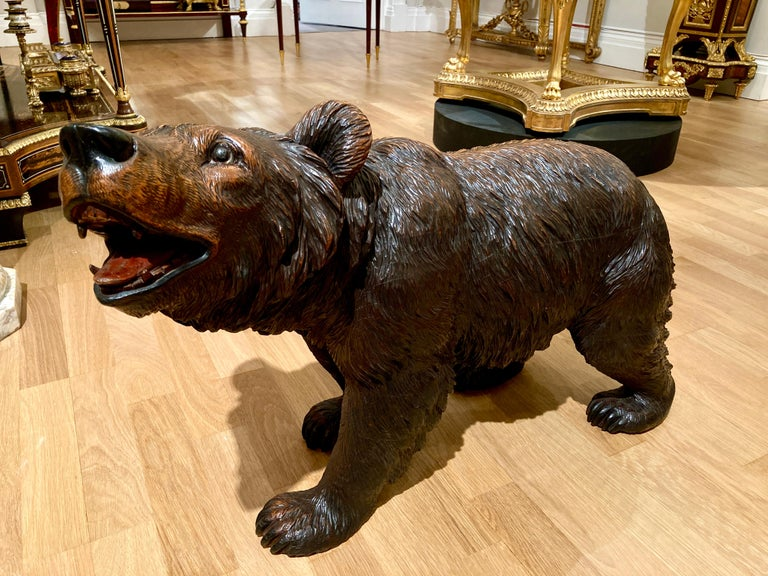 Carved 19th Century 'Black Forest' Bear For Sale