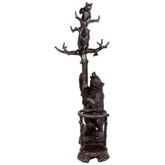 19th Century Black Forest Bear Hall Stand