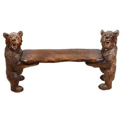 19th Century Black Forest Bench