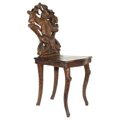 19th Century Black Forest Carved Bear Chair