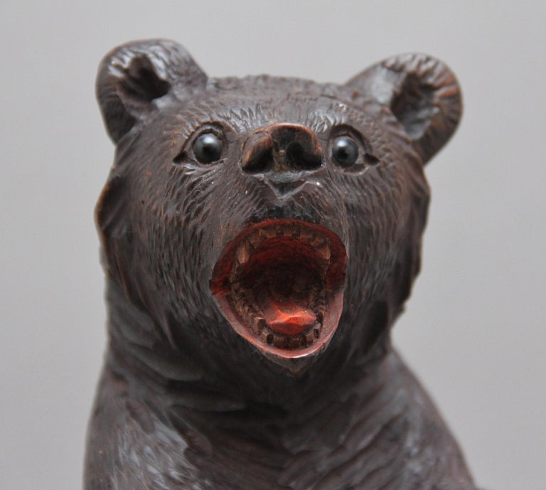 19th Century Black Forest Carved Bear For Sale 1