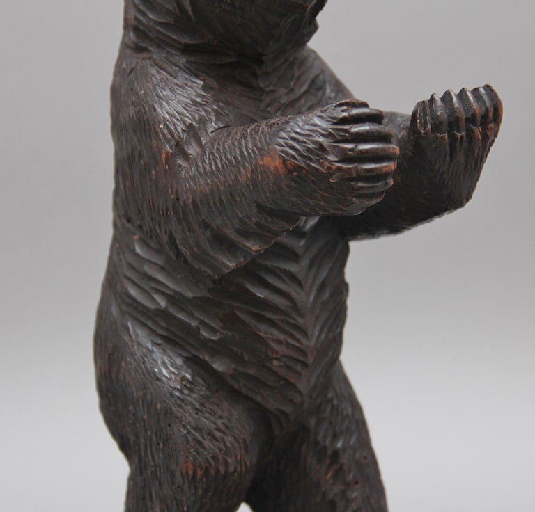 19th Century Black Forest Carved Bear For Sale 3