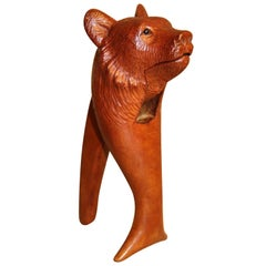 19th Century Black Forest Carved Bear Novelty Nut Cracker