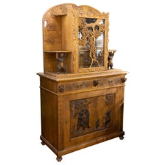 19th Century Black Forest Carved Cabinet