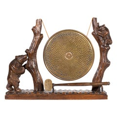 19th Century Black Forest Carved Dinner Gong