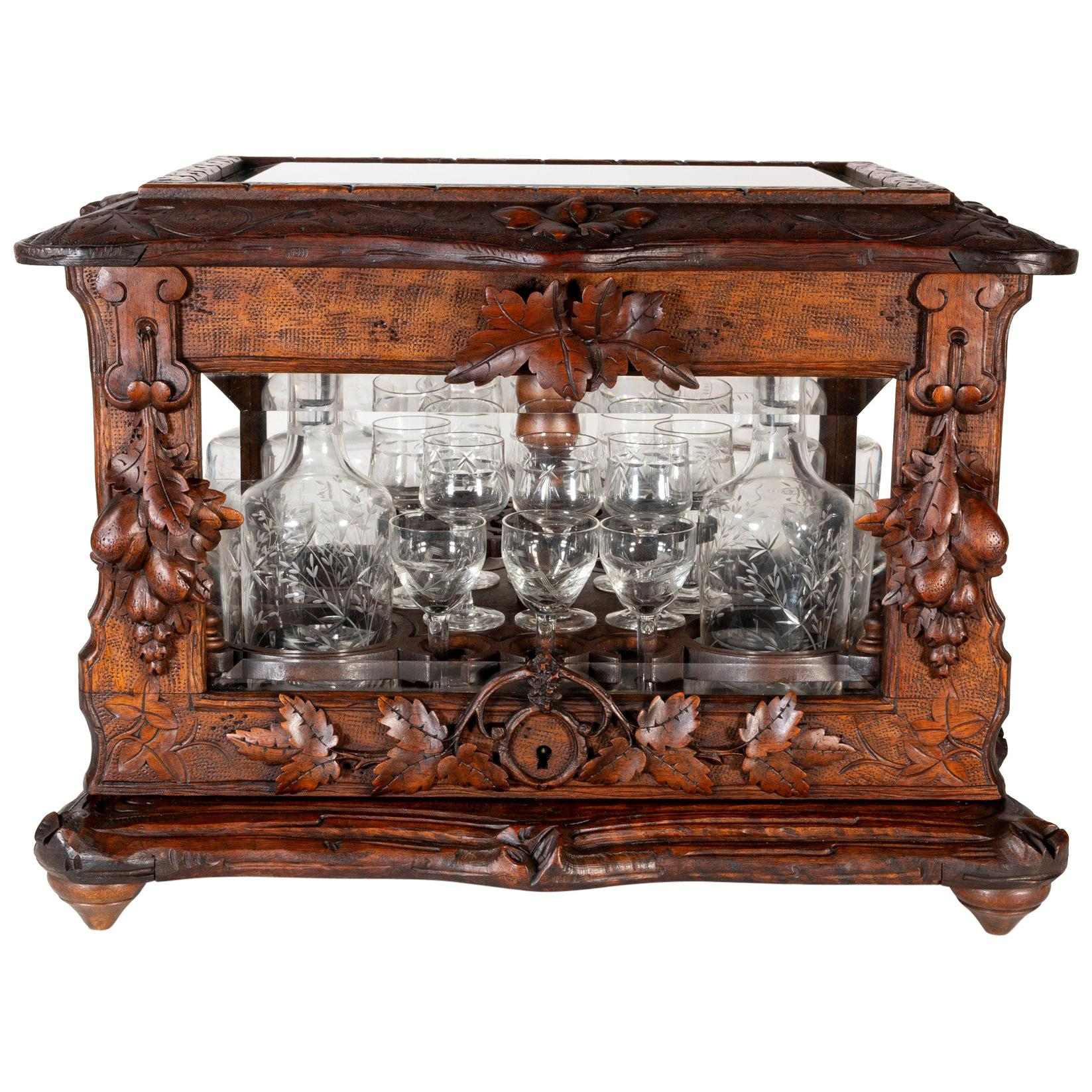 Carved Figures 1800-1899 Loyal Antique Black Forest Carved Wood Cabinet Cupboard-wood Carving-wood Wall Plaque-