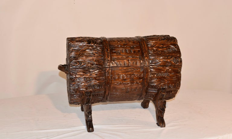 19th Century Black Forest Carved Trunk For Sale 4