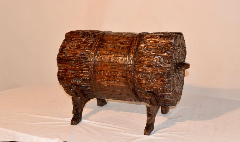 19th Century Black Forest Carved Trunk For Sale 3