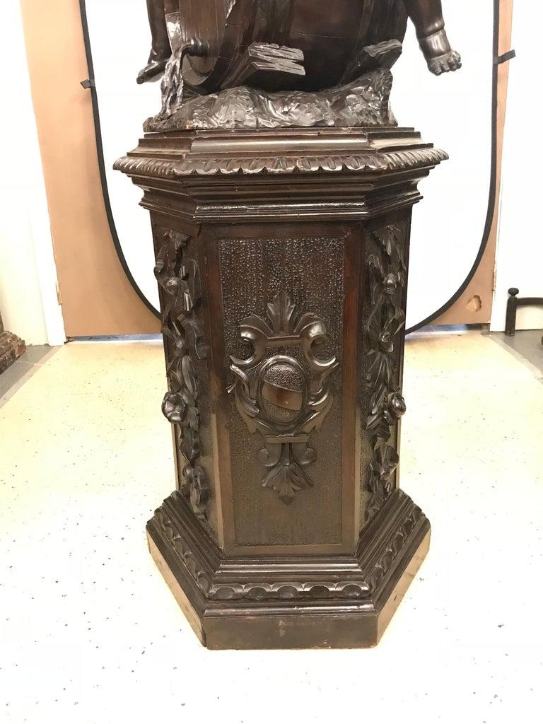 19th Century Black Forest Carving on Pedestal of Two Drunken Cherubs For Sale 7