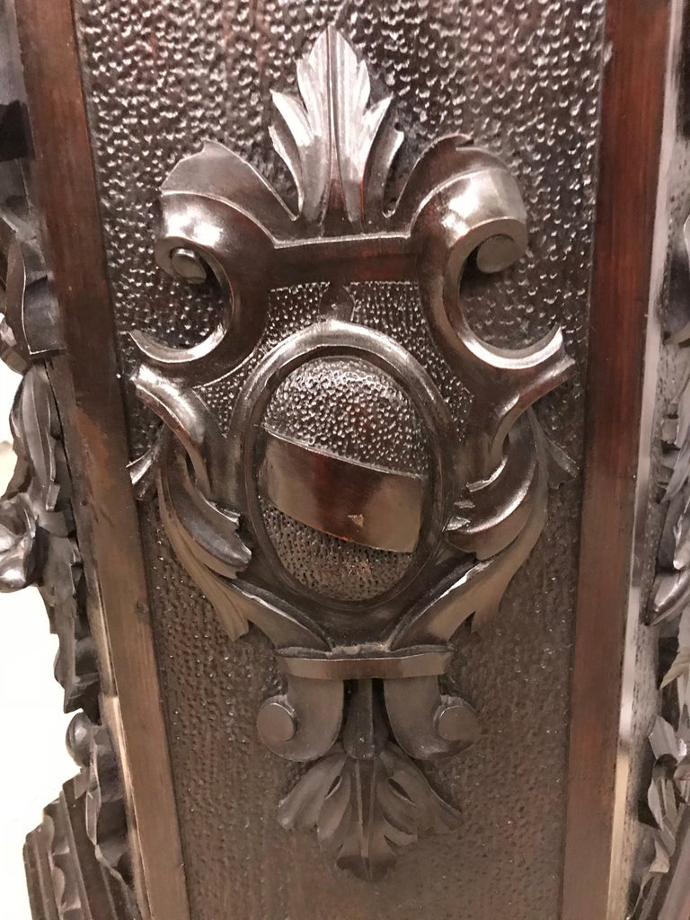 19th Century Black Forest Carving on Pedestal of Two Drunken Cherubs For Sale 8