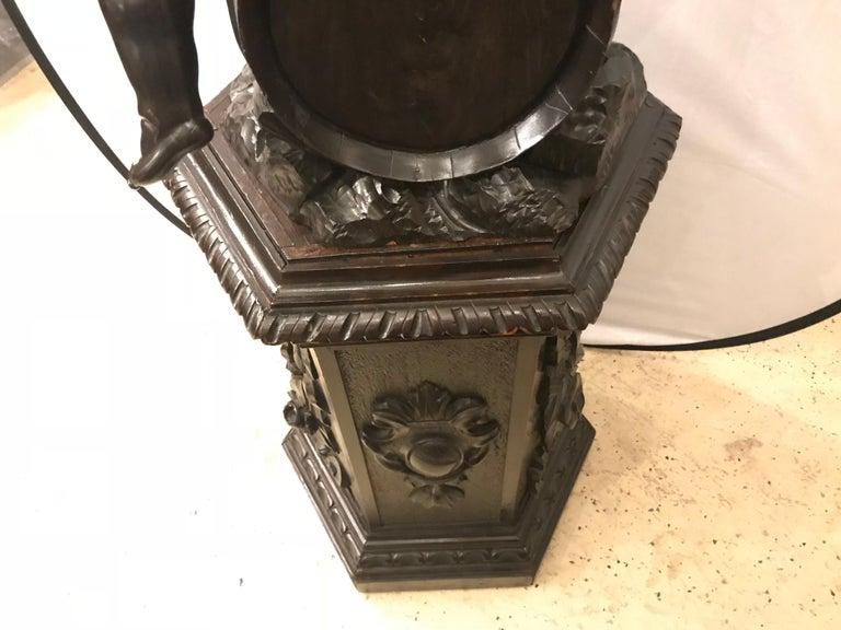 19th Century Black Forest Carving on Pedestal of Two Drunken Cherubs For Sale 5