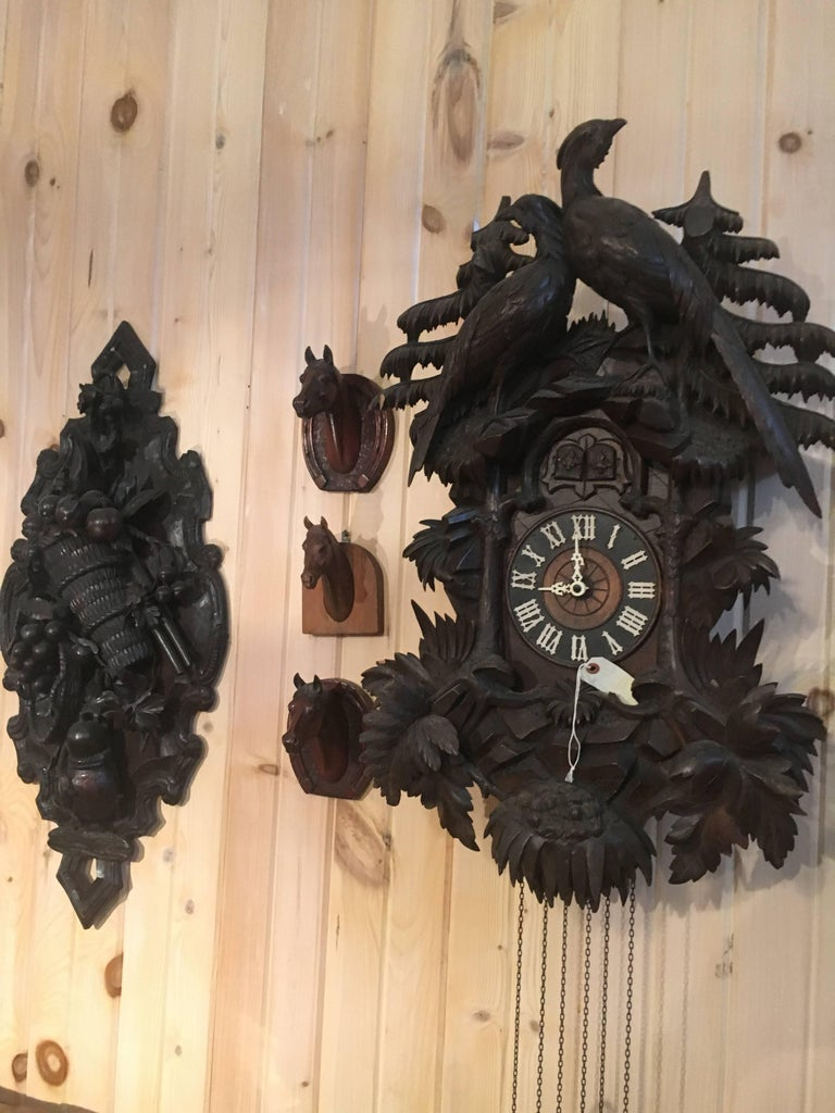 19th Century Black Forest Cuckoo Clock For Sale 4