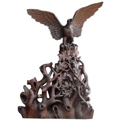 19th Century Black forest Eagle Carving