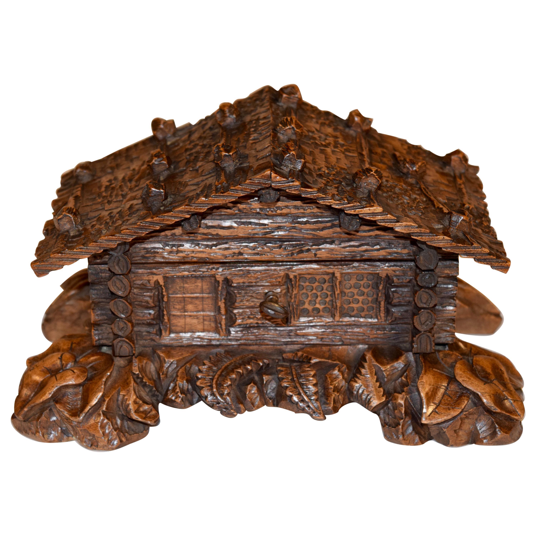 19th Century Black Forest Jewelry Box