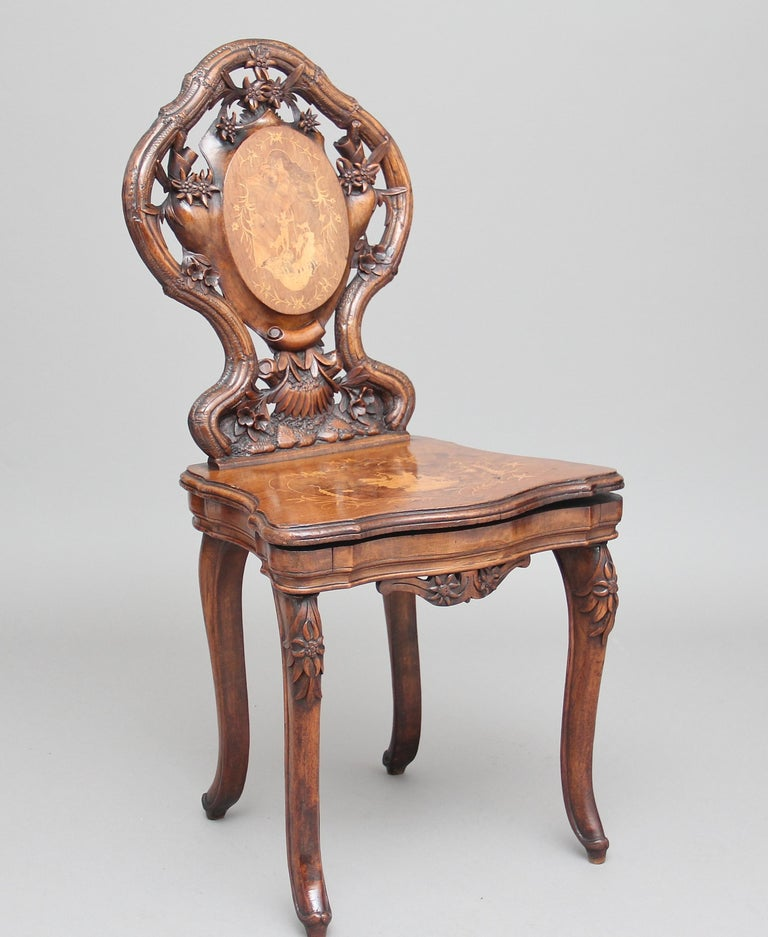 19th Century Black Forest Musical Chair 6