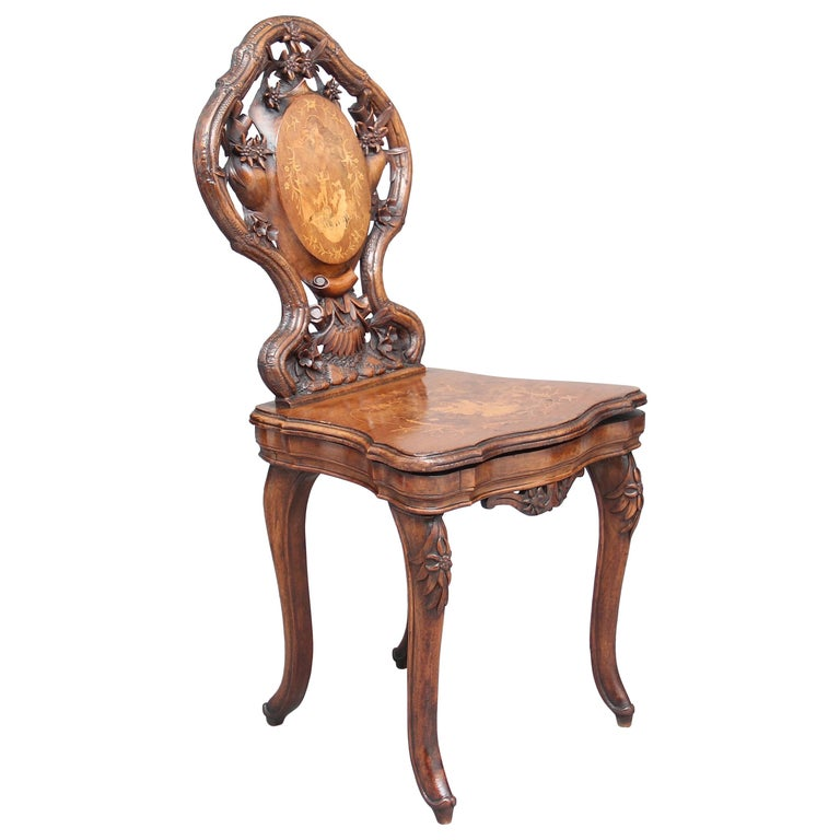 19th Century Black Forest Musical Chair