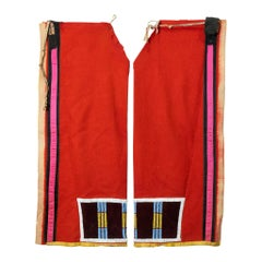 19th Century Blackfeet Beaded Leggings