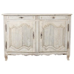 19th Century Bleached Oak French Buffet