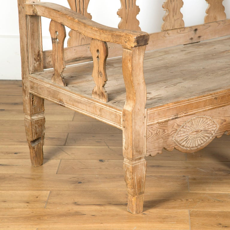 19th Century Bleached Spanish Bench For Sale 1