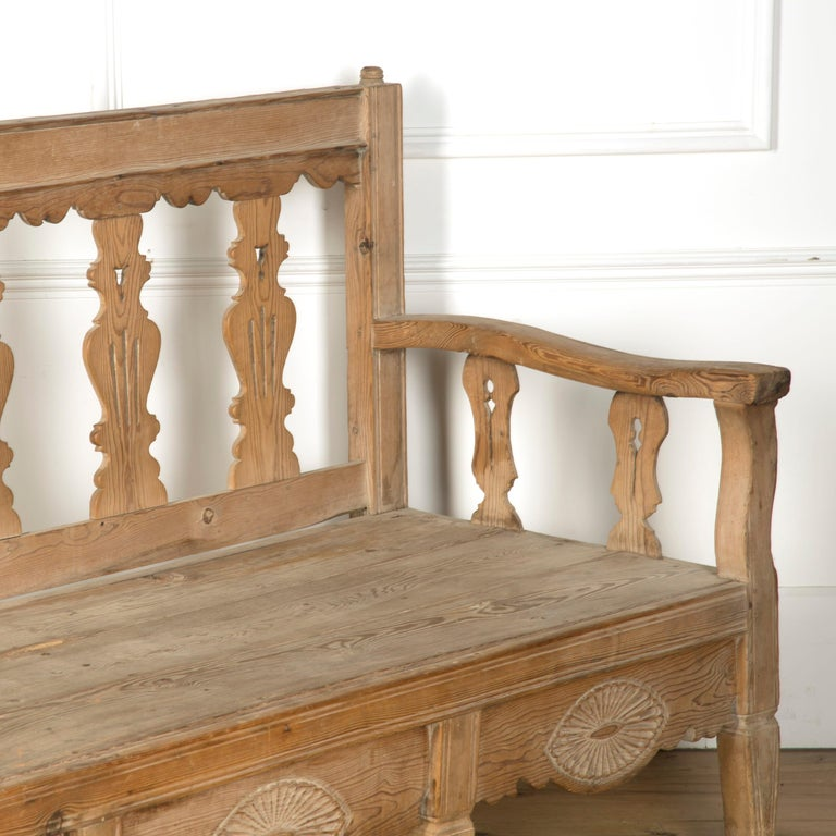 19th Century Bleached Spanish Bench For Sale 2