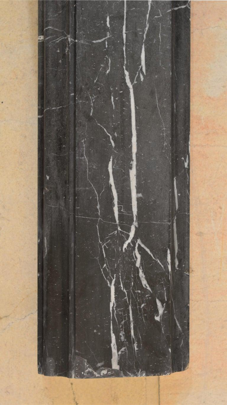 19th Century, Bleu Belge Marble Bolection Fireplace Mantel For Sale 3