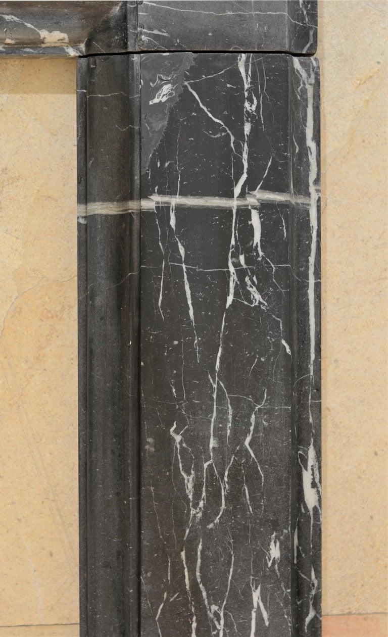 19th Century, Bleu Belge Marble Bolection Fireplace Mantel For Sale 4