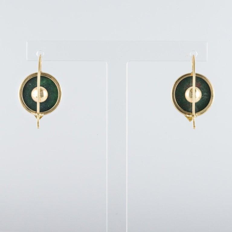 19th Century Blood Jasper Sentimental Padlock Drop Earrings For Sale 3